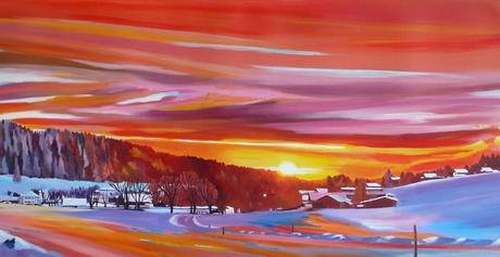 Flamboyant coucher de soleil sur Muriaux <br /> VENDUE