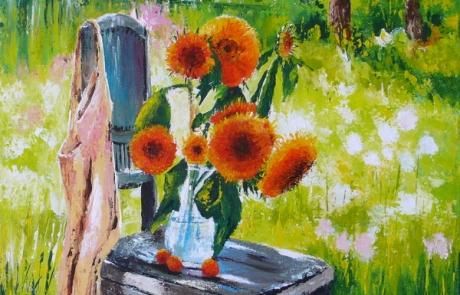 Jardin d'été - 50 x 50 cm <br /> CHF 550