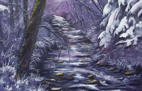 La riviere revet sa parure blanche <br /> VENDUE