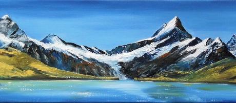 Lac de Bachalp Grindelwald - 25 X 100 cm <br /> CHF 950