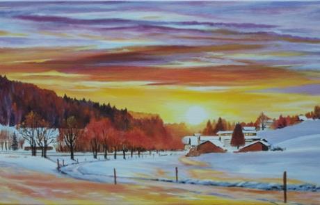 Le soleil se couche sur Muriaux <br /> VENDUE