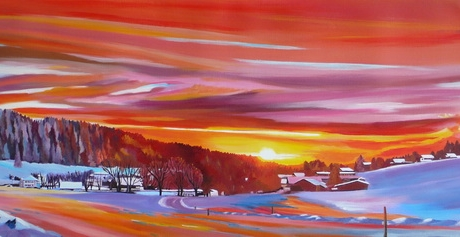 Lumineux coucher de soleil sur Muriaux <br /> VENDUE