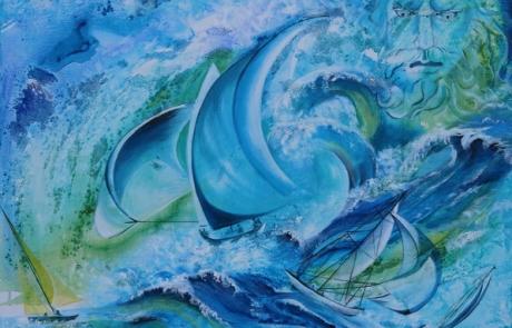 Sous le regard de Poseidon <br /> VENDUE