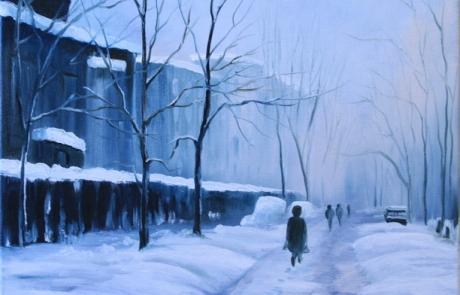 Un hiver dans la ville <br /> VENDUE