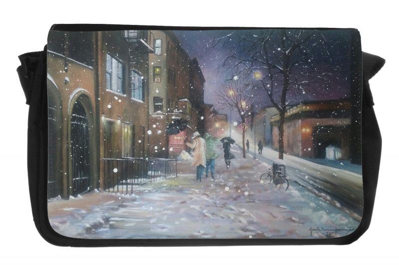 Il neige sur la ville
